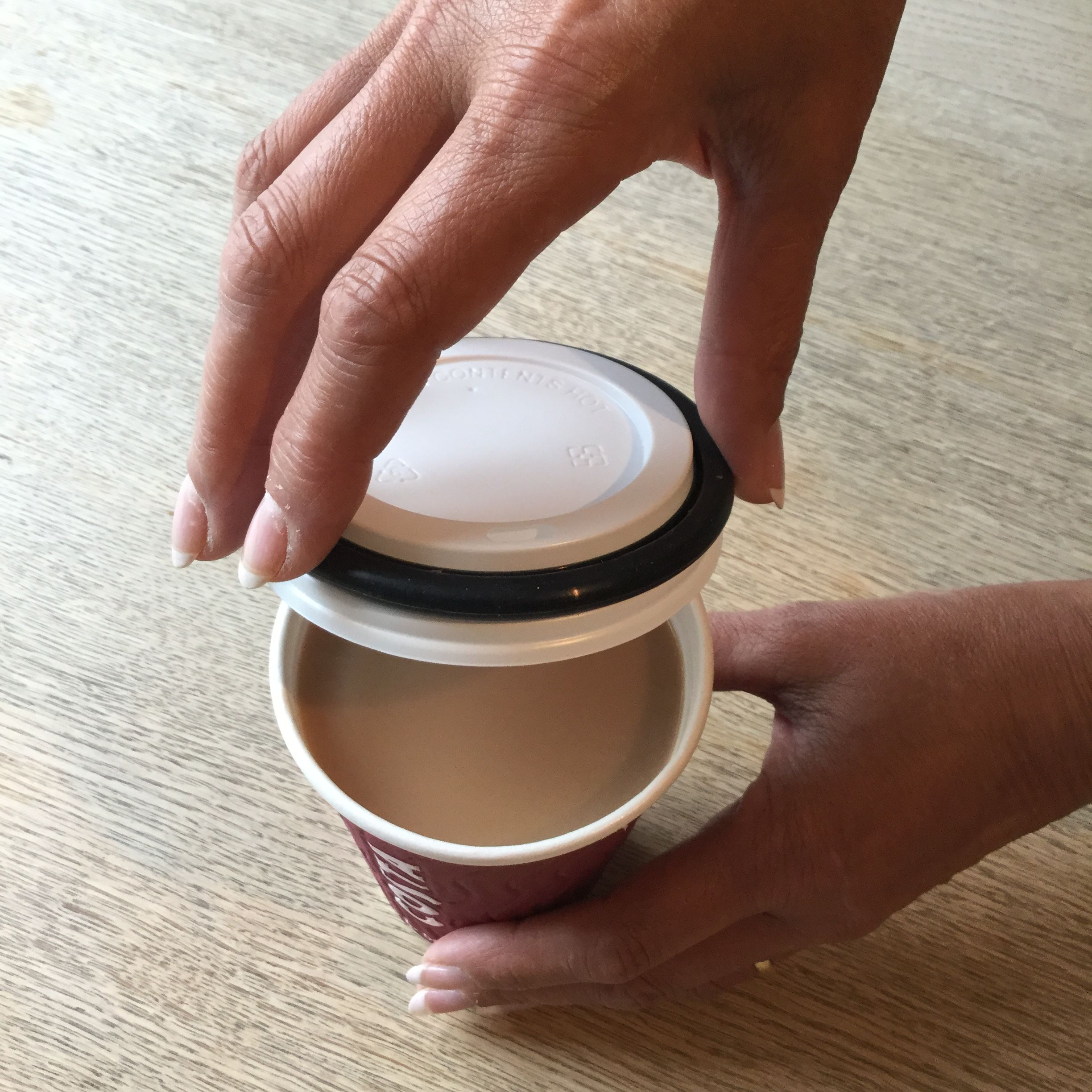 Coffee Cup Lid Applicator